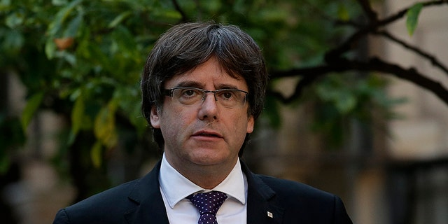 Carles Puigdemont, the former Catalan regional president, facing up to 30 years in prison if he returns to Spain.