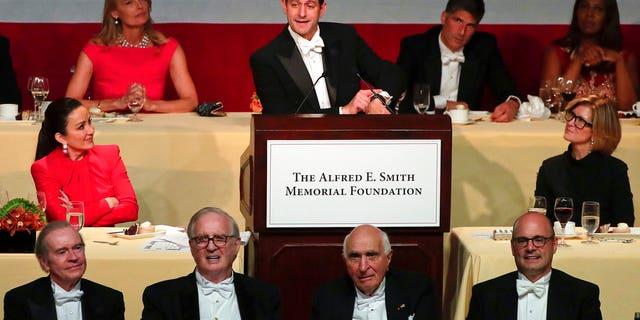 Speaker of the House Paul Ryan speaks during the 72nd Annual Alfred E. Smith Memorial Foundation dinner, Thursday, Oct. 19, 2017, in New York.
