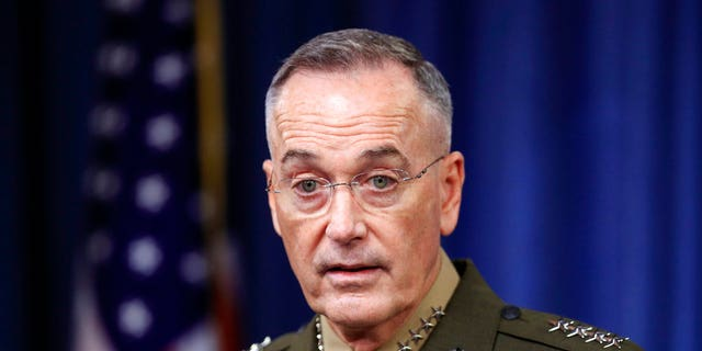"Joint Chiefs Chairman Gen. Joseph Dunford said the fall of Raqqa represents ""an inflection point, it's not the end of the campaign."""