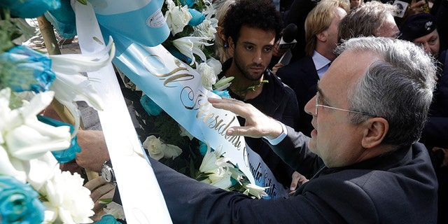 """Lazio president Claudio Lotito the club would intensify its efforts to combat racism and anti-Semitism and organize an annual trip to the Auschwitz concentration camp with some 200 young Lazio fans to """"educate them not to forget."""""""