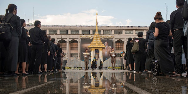 The ceremony was watched in person by tens of thousands of mourners dressed all in black and millions more around the kingdom in broadcasts aired live on most Thai TV stations.