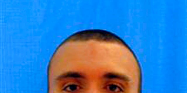 Austin Boutain was arrested on Tuesday after a 15-hour manhunt.