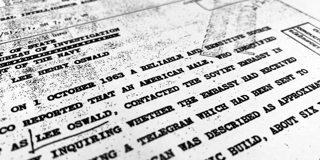 "Part of a file from the CIA, dated Oct. 10, 1963, details ""a reliable and sensitive source in Mexico"" report of Lee Harvey Oswald's contact with the Soviet Union embassy in Mexico City, that was released for the first time on Friday, Nov. 3, 2017, by the National Archives. Documents show U.S. officials scrambling after the assassination of President John F. Kennedy to round up information about Lee Harvey Oswald's trip to Mexico City weeks earlier."