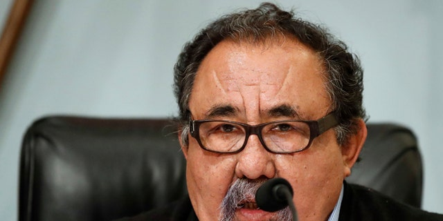 Rep. Raul Grijalva, D-Ariz., speaks during a House Committee on Natural Resources hearing on Nov. 7, 2017.