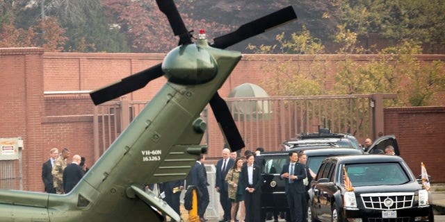 Marine One turned back because of bad weather just minutes before President Trump was due to visit the DMZ.