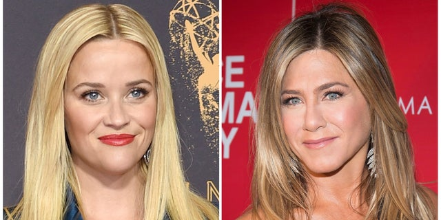 Actresses Reese Witherspoon (left) and Jennifer Aniston (right) both play the role in 'The Morning Show' on AppleTV.