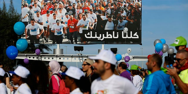 """Supporters of Lebanese PM Saad Hariri said him missing from the 15th annual marathon in Beirut was a """"unifying"""" moment for the country."""