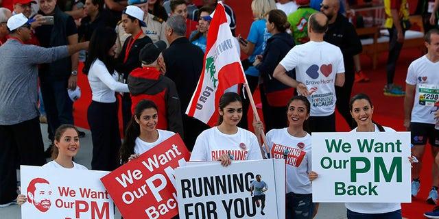 "Outgoing Lebanese PM Saad Hariri said he will ""come back to Lebanon to work."""
