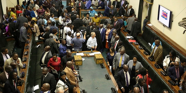 Zimbabwe Parliament members launched impeachment proceedings just before Mugabe sent a letter announcing his resignation.