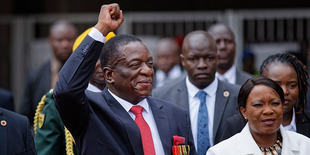 "New Zimbabwe leader Emmerson Mnagagwa promised to tackle corruption and promised ""democratic"" elections for next year."