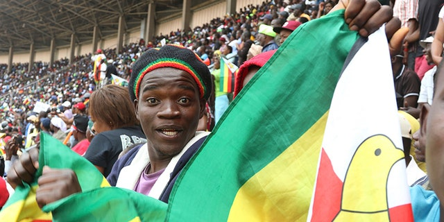 Ahead of Mnangagwa's inauguration, some people began to dance in the stadium stands.