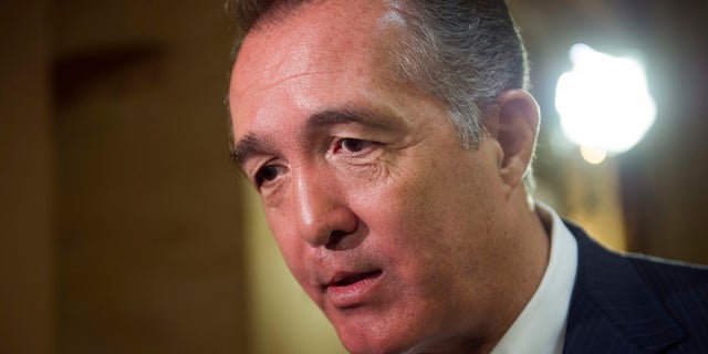 "Rep. Trent Franks, R-Ariz., resigned after he said he made some female staffers ""uncomfortable"" by talking about surrogacy issues."