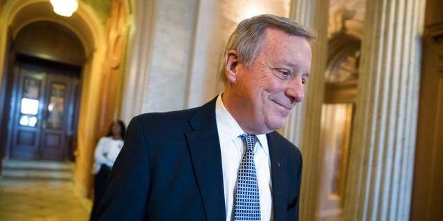 "Sen. Dick Durbin, D-Ill., said President Trump's 'sh--hole' comment was ""vile and racist."""