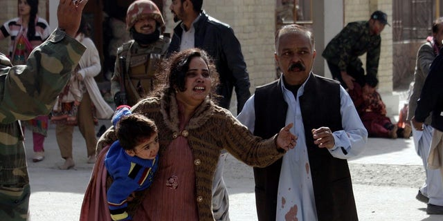At least 45 people were injured in the attack at the church in Quetta, Pakistan.