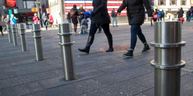 New York City Mayor Bill de Blasio announced on Tuesday that the city's Security Infrastructure Working Group is planning to spend upwards of $50 million to bring 1,500 new bollards to the city along with installing permanent ones in Times Square.