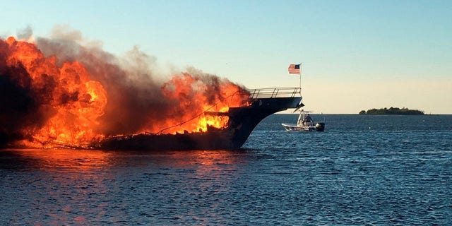 A woman died and 14 other people were injured in the casino shuttle boat fire.