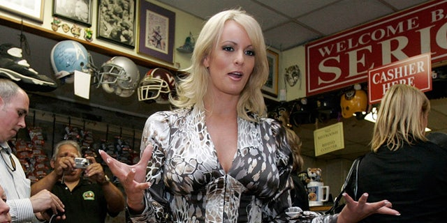 Stormy Daniels seen in 2009. Michael Cohen, President Trump's personal lawyer, said he paid her $130,000 out of his own pocket.