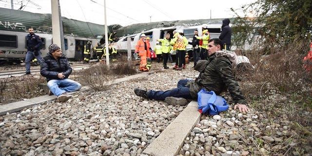The train derailment caused hours of delays into and out of Milan
