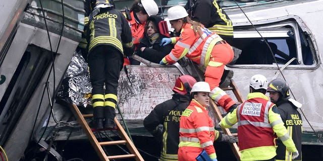 At least 13 other people were seriously injured after a train derailed in Milan, Italy.