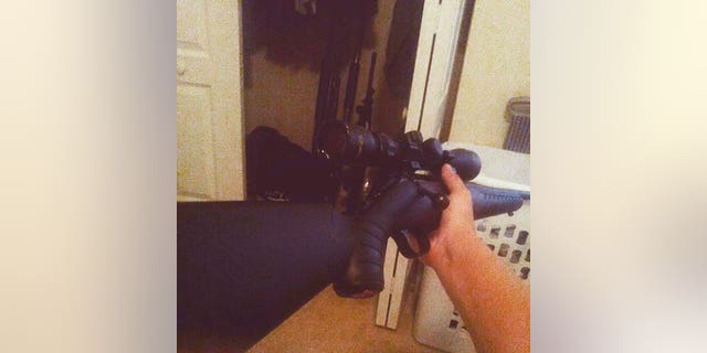 This photo posted on the Instagram account of Nikolas Cruz shows a weapon being held.
