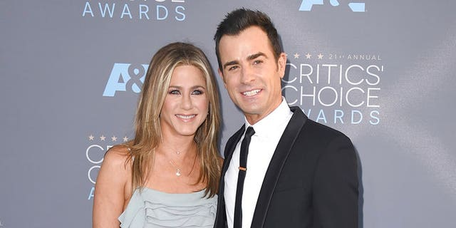 In this Jan. 17, 2016 file photo, Jennifer Aniston, left, and Justin Theroux arrive at the 21st annual Critics' Choice Awards in Santa Monica, California. The couple announced Thursday, Feb. 15, 2018, that they have separated.