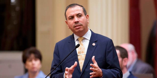 California Sen. Tony Mendoza, D-Artesia, announces that he will take a month-long leave of absence while an investigation into sexual misconduct allegations against him is completed, in Sacramento, Calif., Jan. 3, 2018.