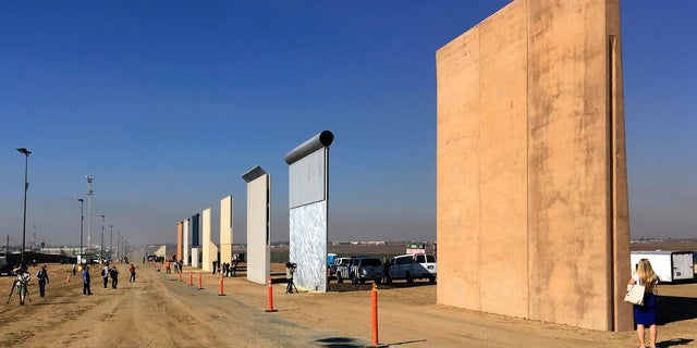 "President Trump on Tuesday will visit San Diego to inspect eight prototypes of the ""big, beautiful wall."""