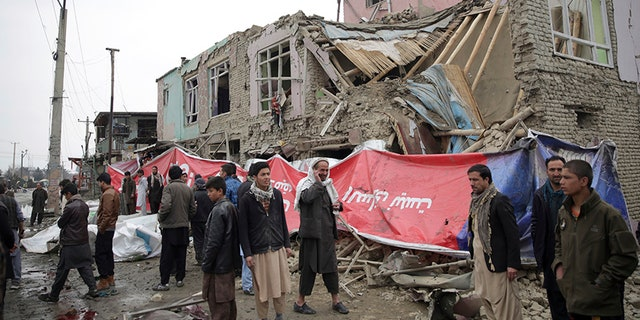 Mohammad Musa Zahir, a doctor at the area's Wazir Akbar Khan hospital, said 15 people were also wounded in the blast, including five children and two women.