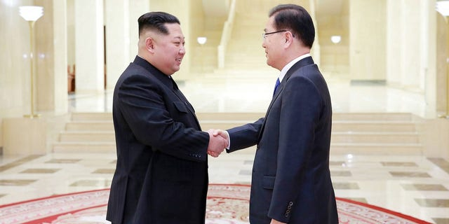 Kim Jong Un and Chung Eui-yong talked during a two-day visit.