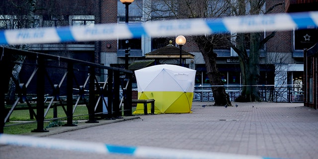 The bench where the Skripals were found unconscious as well as Sergei's home, car and a restaurant and pub have been cordoned off amid the investigation.