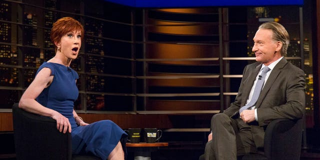 """Griffin appeared Friday on HBO's """"Real Time With Bill Maher."""" Maher was among a short list of celebrities who supported Griffin after the outrage over her photo with the fake severed head of President Trump."""