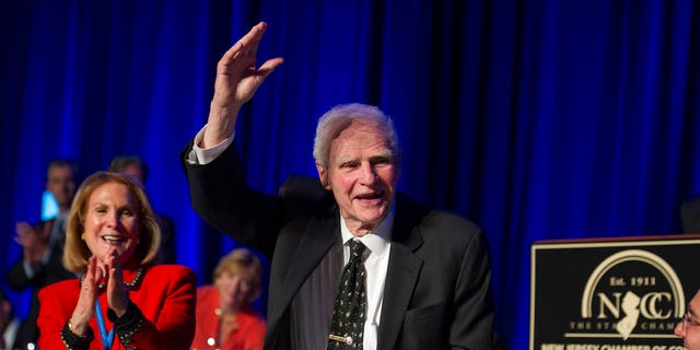 Former New Jersey Gov. Brendan Byrne died in January at age 93. A ceremony at Healy's Tavern in Jersey City on Friday was held in his honor.
