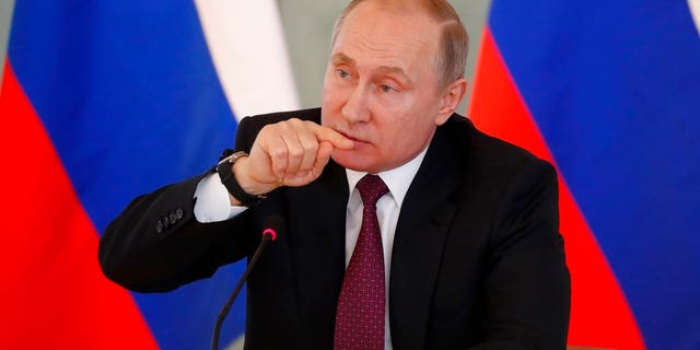 """Vladimir Putin called accusations that Russia poisoned an ex-spy and his daughter """"nonsense."""""""