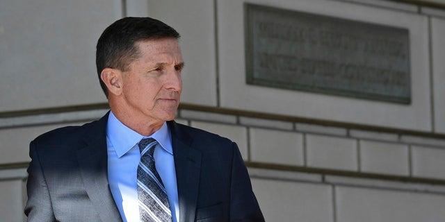Former National Security Advisor Trump Leaves Federal Court in Washington, December 1, 2017.