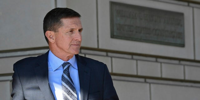 Former Trump national security adviser Michael Flynn leaves federal court in Washington, Dec. 1, 2017.