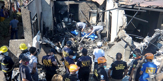 The Civil Aviation Authority of the Philippines (CAAP) confirmed that the plane, operated by Lite Air Express, crash-landed on take off, killing six people on board and three more on the ground.