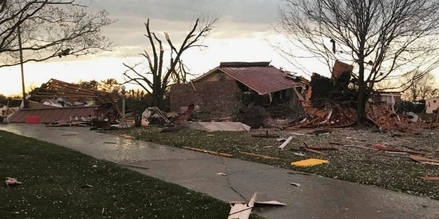 A home after a tornado passed through part of Alabama earlier this week.