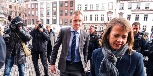 Prosecutor Jakob Buch-Jepsen arrives for the second hearing at the courthouse where the trial of Danish inventor Peter Madsen.