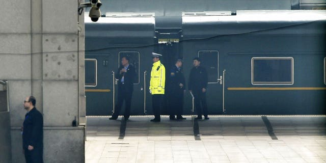 The trains are bulletproof, causing them to weigh much heavier than normal carriages and move much slower.