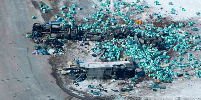 At least 15 were killed after a bus crash Friday.