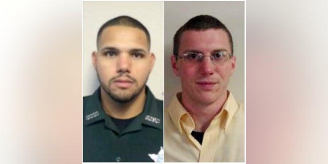 Sgt. Noel Ramirez (left) and Deputy Sheriff Taylor Lindsey (right) of the Gilchrist County Sheriff's Office in Florida were fatally shot while they were eating lunch in a restaurant.