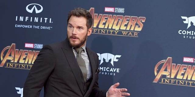 """Chris Pratt arrives at the world premiere of """"Avengers: Infinity War"""" on Monday, April 23, 2018, in Los Angeles. (Photo by Jordan Strauss/Invision/AP)"""