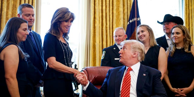 "President Trump at the White House on Tuesday said ""the actions of the crew and passengers of Southwest Flight 1380 show the great character of our nation."""