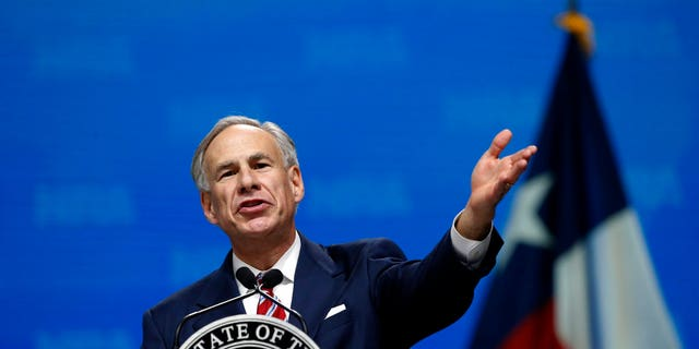 In this May 4, 2018, photo, Gov. Greg Abbott speaks at the National Rifle Association-Institute for Legislative Action Leadership Forum in Dallas.
