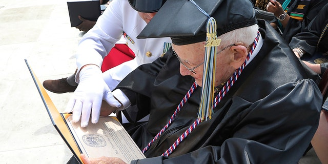 Barger graduated on Saturday, more than 60 years since he last attended classes.