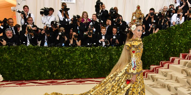 Sarah Jessica Parker on the red carpet during Monday's Met Gala.