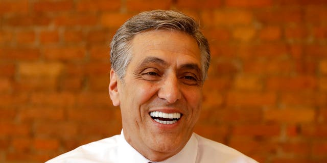 U.S. Rep. Lou Barletta, R-Pa., Republican primary candidate for U.S. Senate, smiles during a lunch gathering, Tuesday, May 15, 2018, in Scranton, Pa.