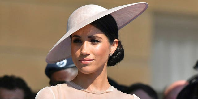 Meghan, Duchess of Sussex, at a May 22 royal engagement.