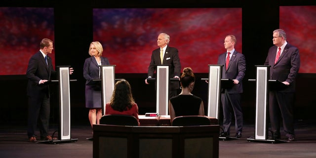 Republicans Lt. Gov. Kevin Bryant, from left, Catherine Templeton, Gov. Henry McMaster, John Warren and Yancey McGill are all vying for the GOP nomination for governor Tuesday.