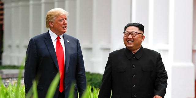 President Trump and Kim Jong Un during the Singapore summit.